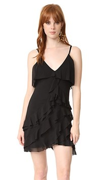alice + olivia La Vinia Short Ruffle Dress | SHOPBOP