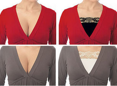 cover cleavage with a modesty panel