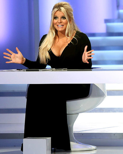 jessica simpson cleavage on fashion star