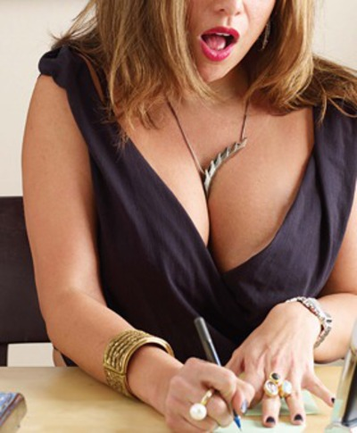 too much cleavage for the office?