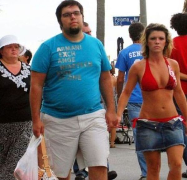 overweight guy with a skinny girlfriend